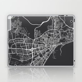 Malaga Map, Spain - Gray Laptop & iPad Skin