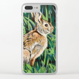 Eastern Cottontail Rabbit Clear iPhone Case