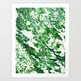 Speckled Emerald Art Print