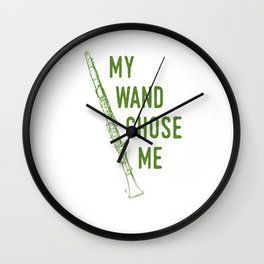 My Wand Chose Me Clarinet Player Musician Clarinetist Wall Clock