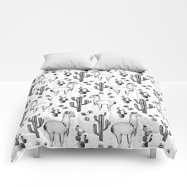 Llama Llamarama + Cactus 2 Comforters