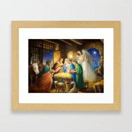 Nativity, holy night Framed Art Print