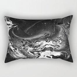 // MARBLED BLACK // Rectangular Pillow