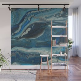 Water Dragon, Abstract Fluid Acrylic Painting Wall Mural