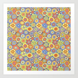 Millefiori-Happy Colors Art Print