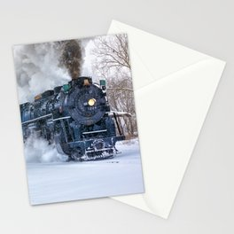 North Pole Express Train (Steam engine Pere Marquette 1225) Stationery Cards