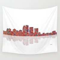 kentucky Wall Tapestries featuring Louisville Kentucky Skyline by Marlene Watson