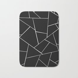 Black White Geometric Glam #2 #geo #decor #art #society6 Bath Mat