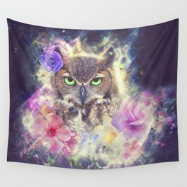Space Owl with Spice Wall Tapestry
