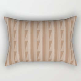 Modern Geometric Pattern 8 in Cinnamon Spice Rectangular Pillow