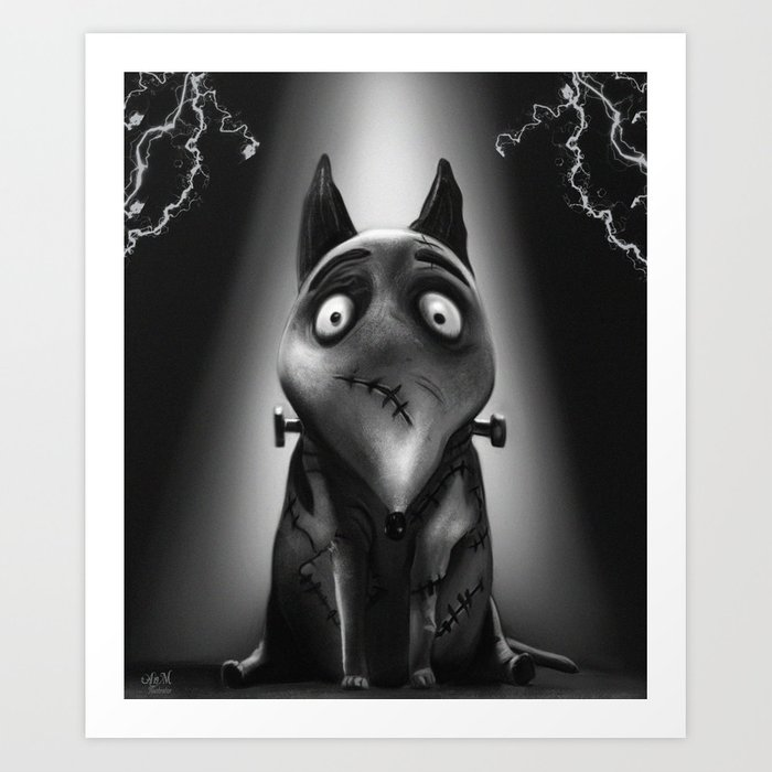 Sparkly Frankenweenie Art Print By Anmniniel Society6