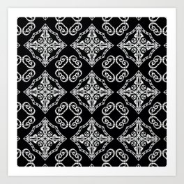 Victorian Gothic Holiday Wallpaper Art Print