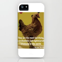 Herzog's Dancing Chicken iPhone Case