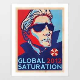 GLOBAL SATURATION 2012 Art Print