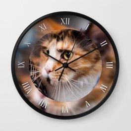 Red hair cat clock Wall Clock