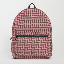 Blush Pink and Grey Hounds tooth Check Backpack