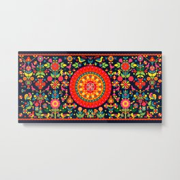 Wayuu Tapestry Inspiration - Digital Art Metal Print