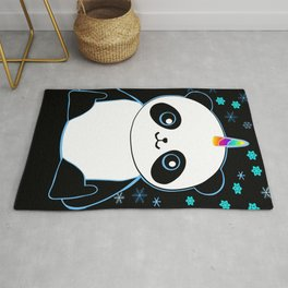 Pandacorn in the Darkness and the Snow Rug