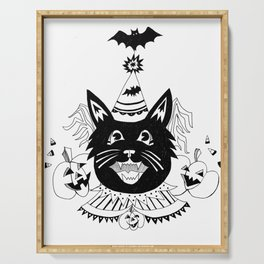 Halloween Party Cat Serving Tray