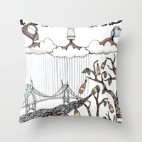 oregon Throw Pillows featuring Portland, Oregon by Brooke Weeber