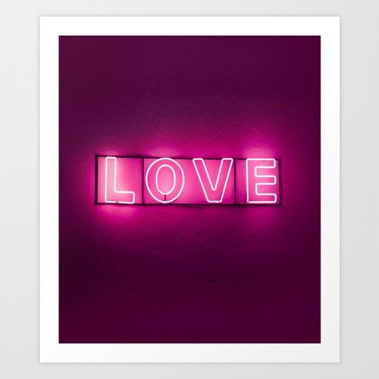 Love Neon Sign Art Print