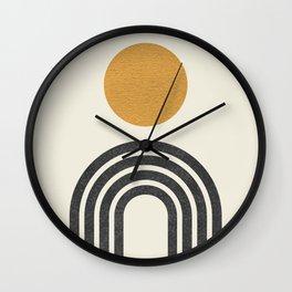 Mid century modern gold Wall Clock