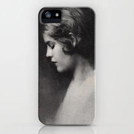 Jazz Age Portrait iPhone Case