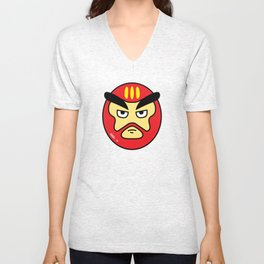 Super Sentai Slime Daruma Red Unisex V-Neck