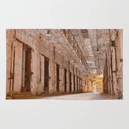 Glowing Prison Corridor Rug