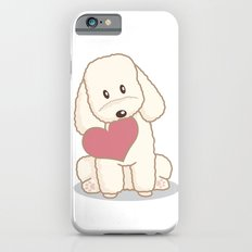 Toy Poodle Dog with Love Illustration Slim Case iPhone 6s