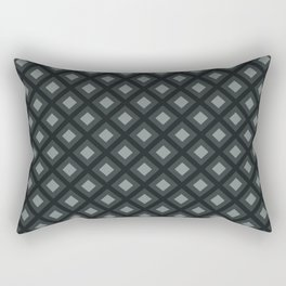 PPG Night Watch Pewter Green Zigzag, Diamond Square Pattern Rectangular Pillow
