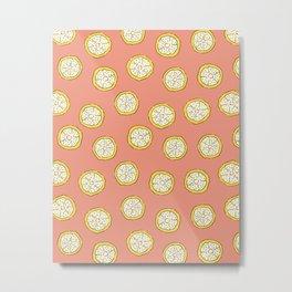 Coral Citrus Metal Print