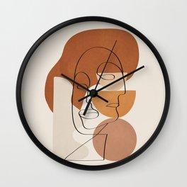 Abstract Clay Faces II Wall Clock