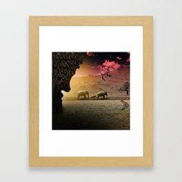 Stalking nature Framed Art Print