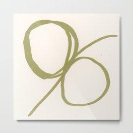Abstract Line No. 84 Metal Print