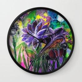 Spring Garden In Bloom Wall Clock