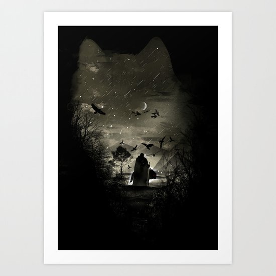 The Lord Crow Art Print
