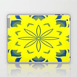 Maize & Blue floral Mandala Laptop & iPad Skin