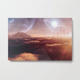 Planet City Metal Print