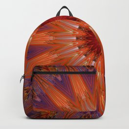 Vibrant Purple Orange Mandala Design Backpack