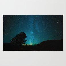 Milky Way Starry Night Photography Rug
