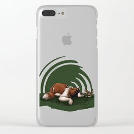 Got a good feline about us. Clear iPhone Case