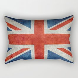 "English Flag ""Union Jack"" bright retro 3:5 Scale Rectangular Pillow"