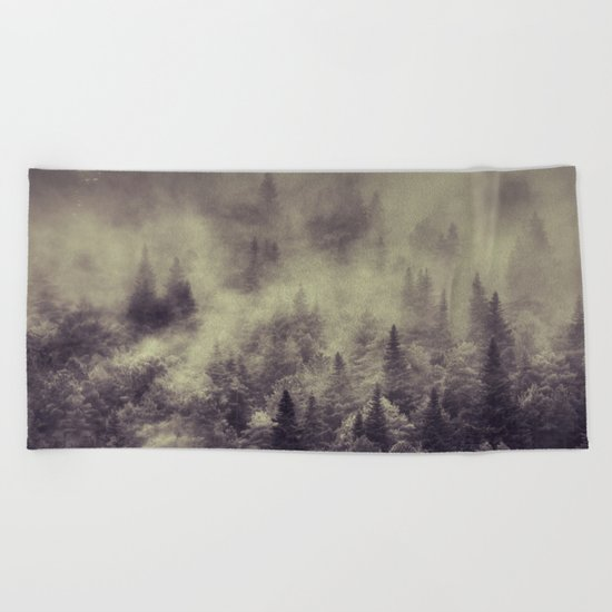 """Into the woods"" Love the forests Beach Towel"