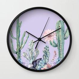 Desert Gemstone Oasis Light Purple Wall Clock