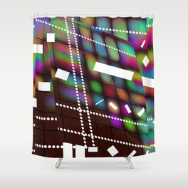 Geometric Color Shower Curtain