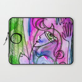 Abstract Nude Goddess No. 40E by Kathy Morton Stanion Laptop Sleeve