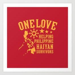 HAIYAN FUND RAISER Art Print