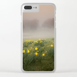 Misty Daffodils Clear iPhone Case