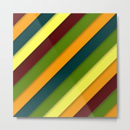 Color diagonal lines background Metal Print